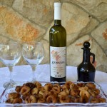 Korkyra wine and dried figs